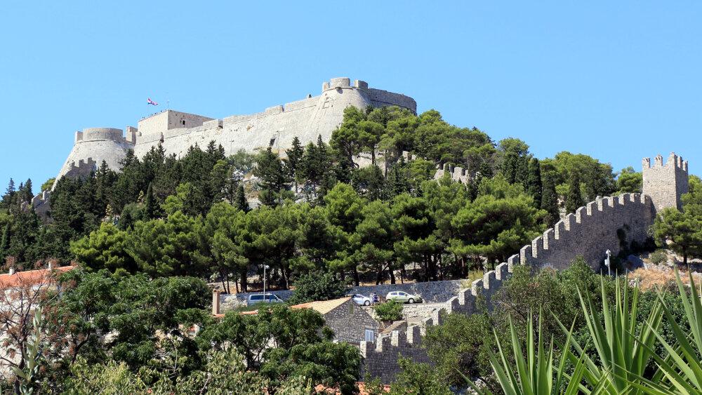 La forteresse espagnole de Hvar-ville