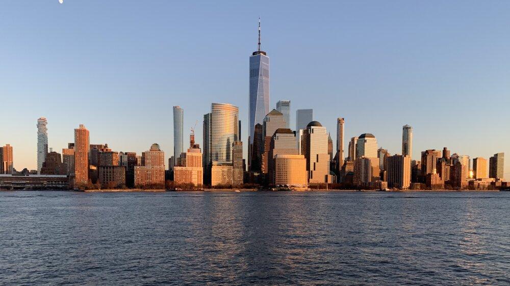 Manhattan au couché du soleil
