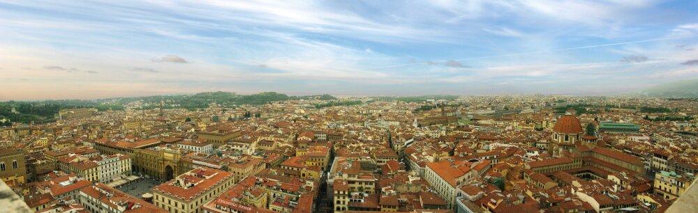 Panoramique en haut de la cathédrale Santa Maria del Fiore