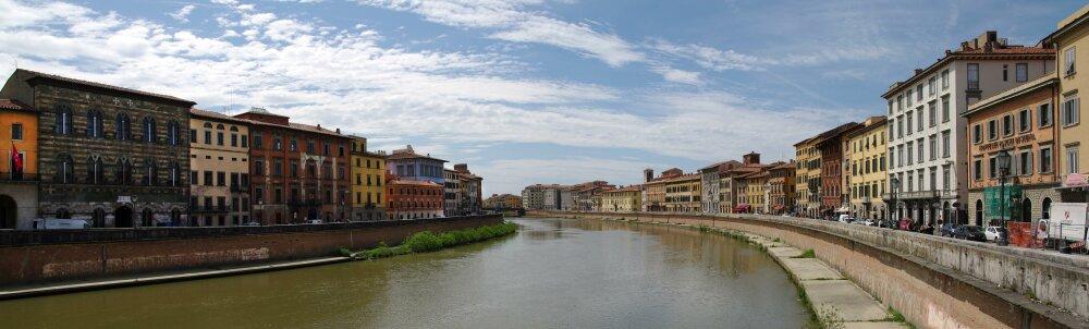 L'Arno traverse Pise