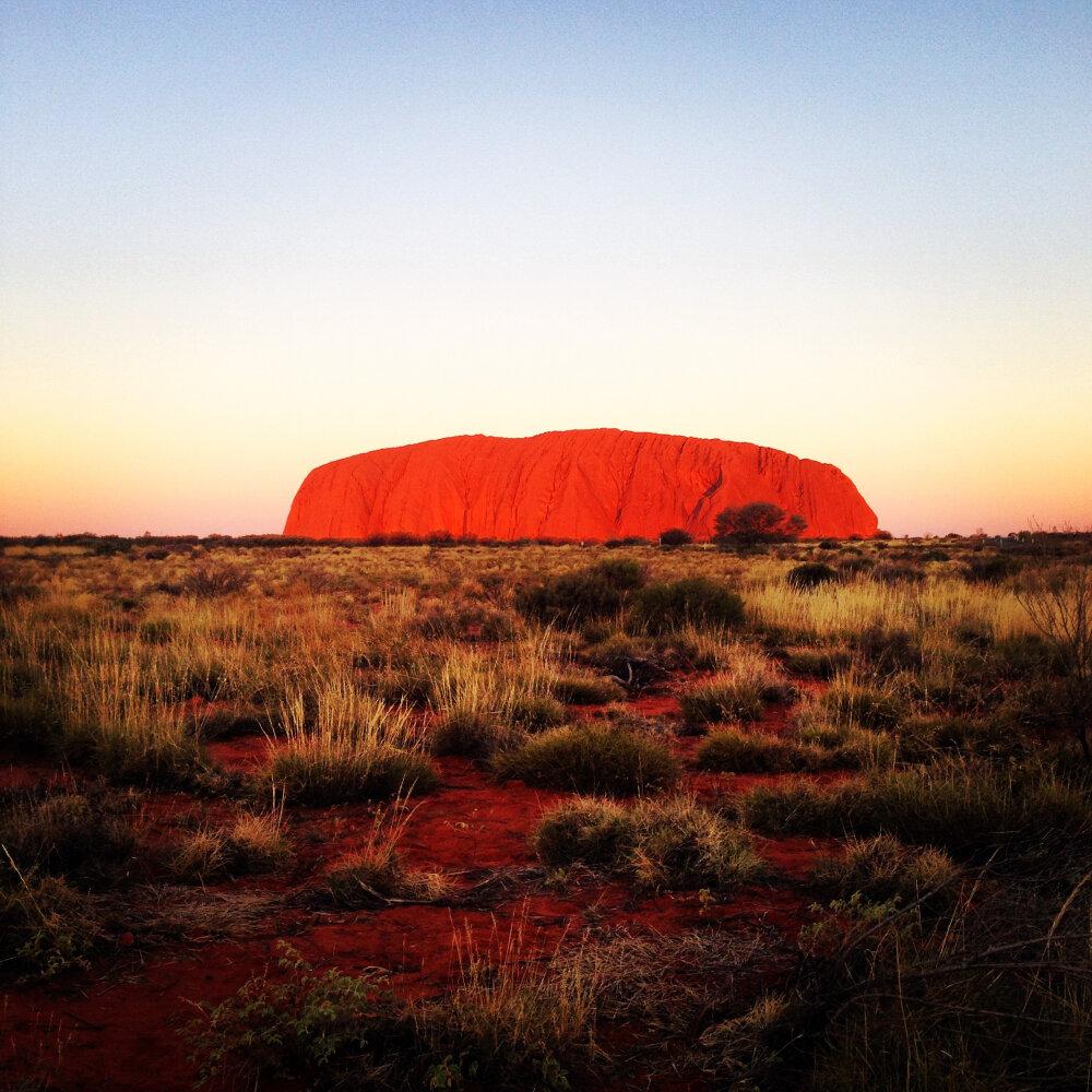 Couché de soleil sur Uluru