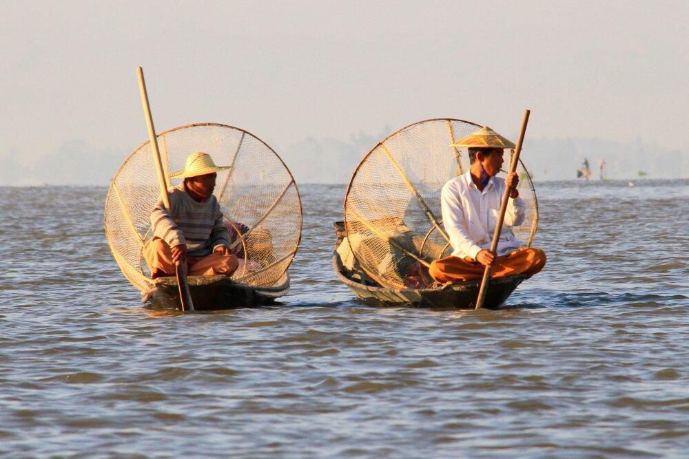 Pêcheurs patients