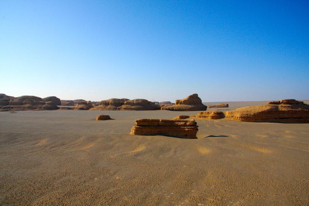 Paysage lunaire dans le désert de Gobi