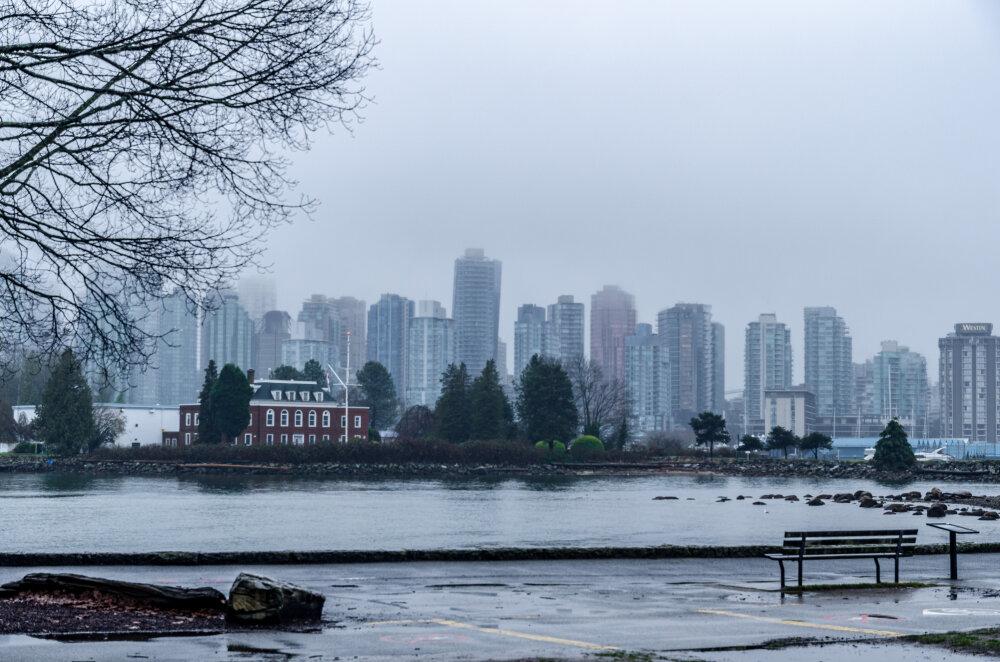 Vue sur la ville de Vancouver depuis le Stanley Park