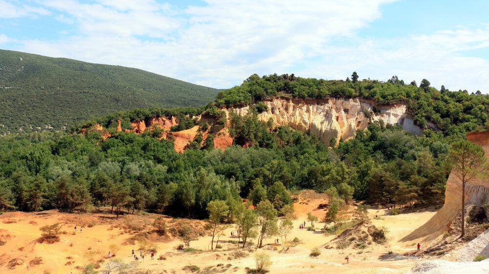 Colorado provencal, près de Rustrel dans le Lubéron