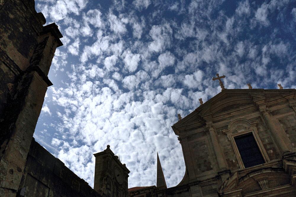 Ombres et lumières sur l'église Saint Ignace de Dubrovnik