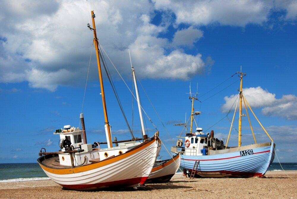 Bateaux à la plage