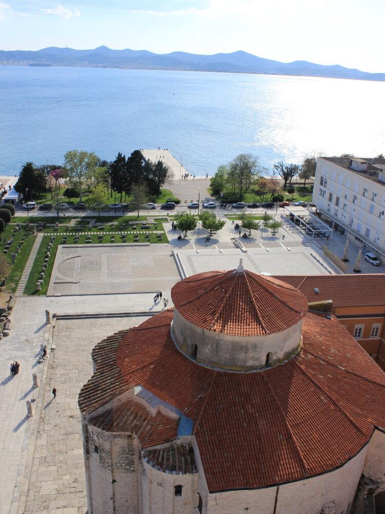 Vue depuis le clocher de Zadar