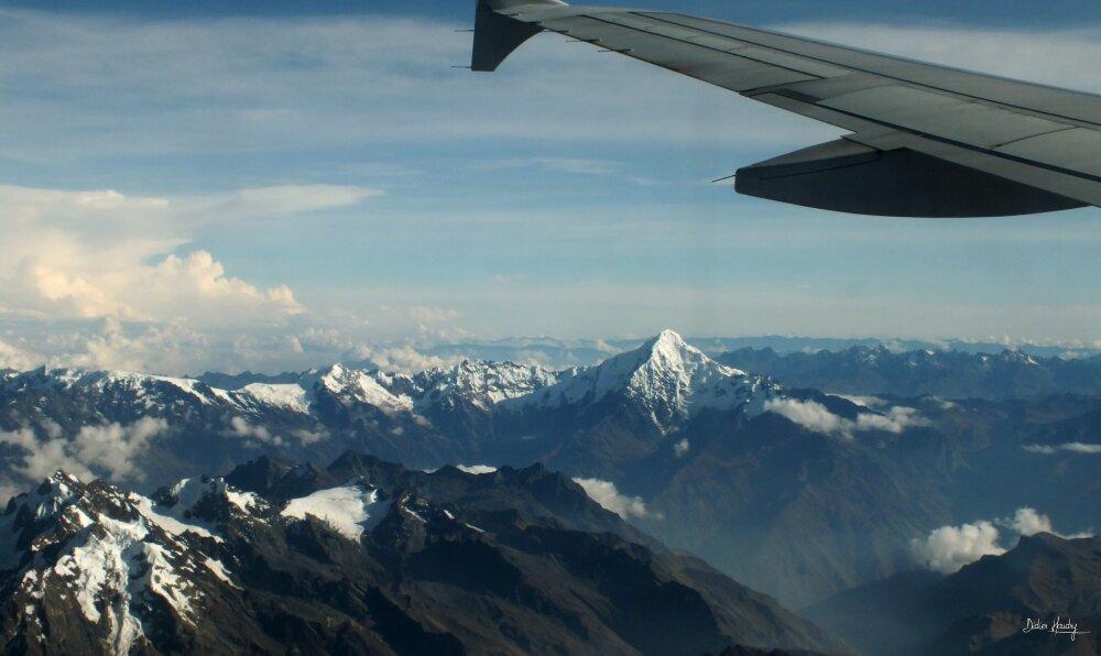 Survol de la Cordilière des Andes