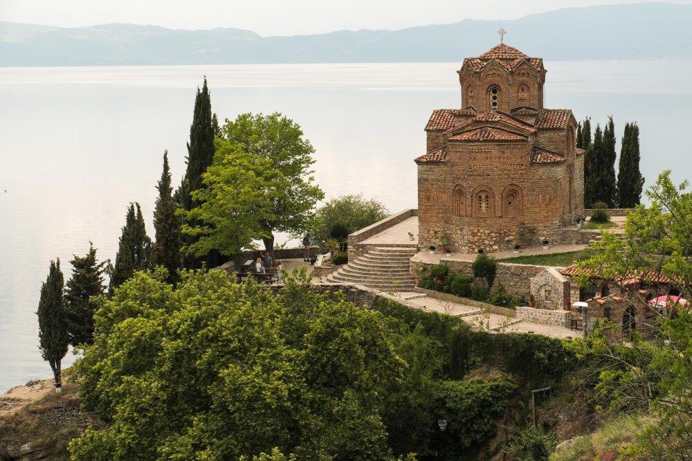 Lac d'Ohrid - Eglise St-Jean de Kaneo