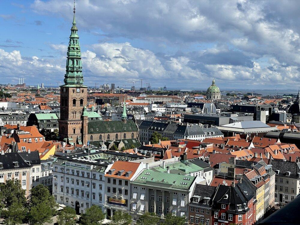 Vue sur Copenhague à partir de la Tour Christiansborg