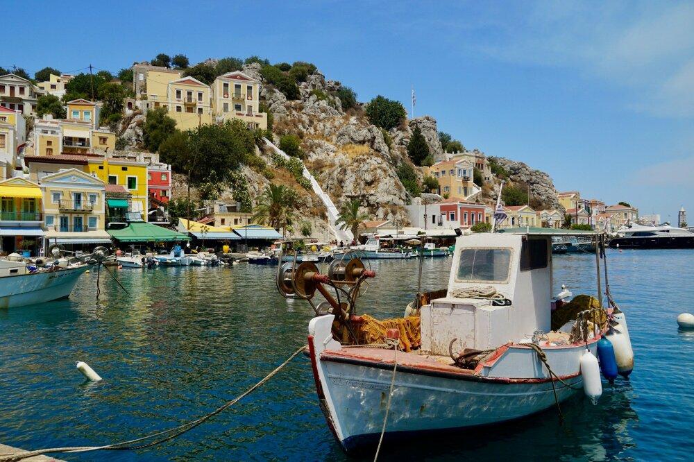Port de Symi dans les îles du Dodécanèse.
