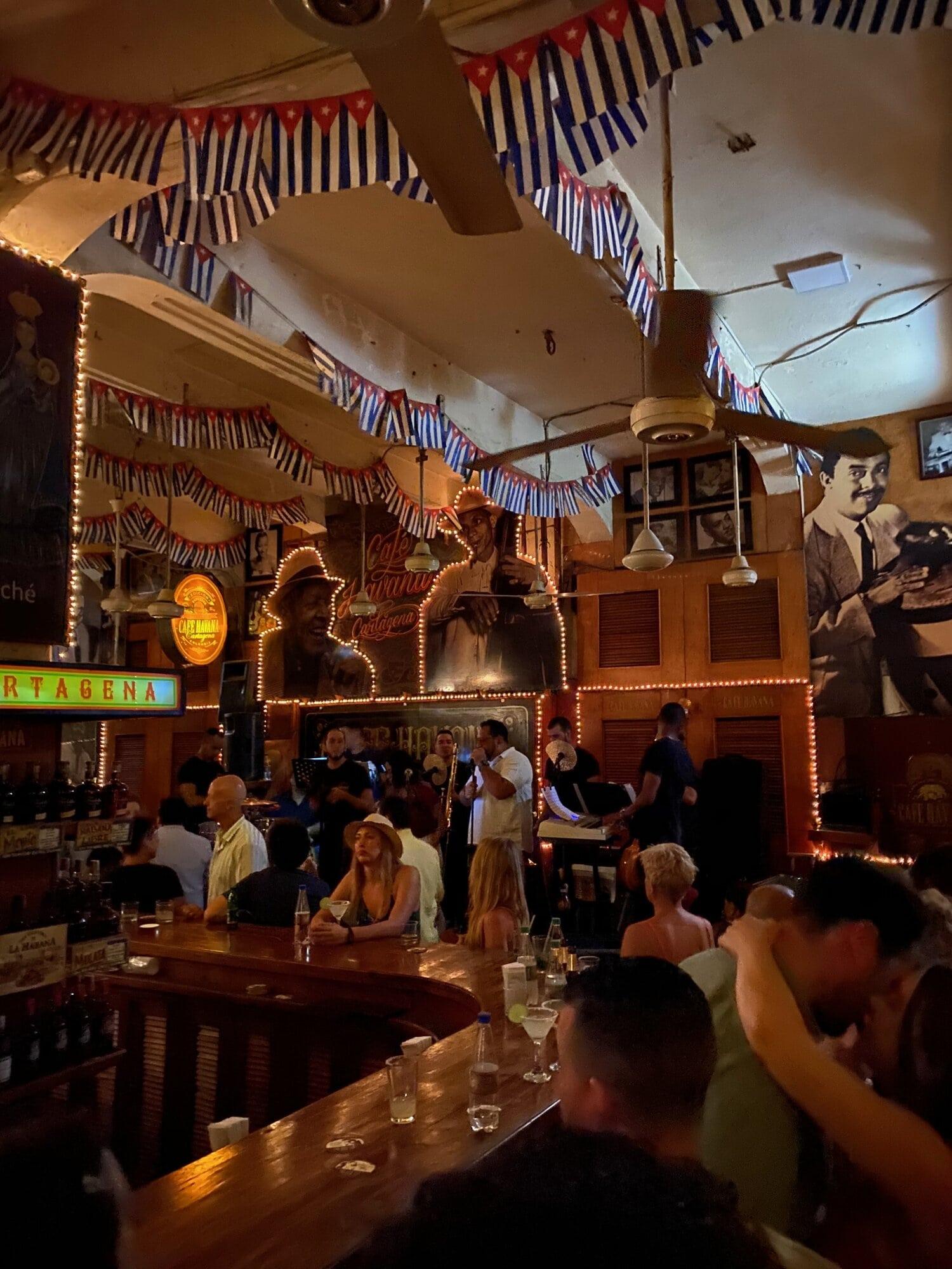 Cafe Havana en Cartagena, Colombia
