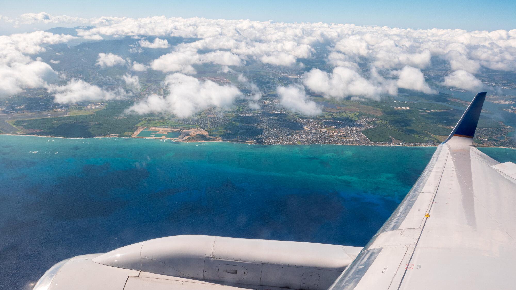 Attérissage pour Honolulu