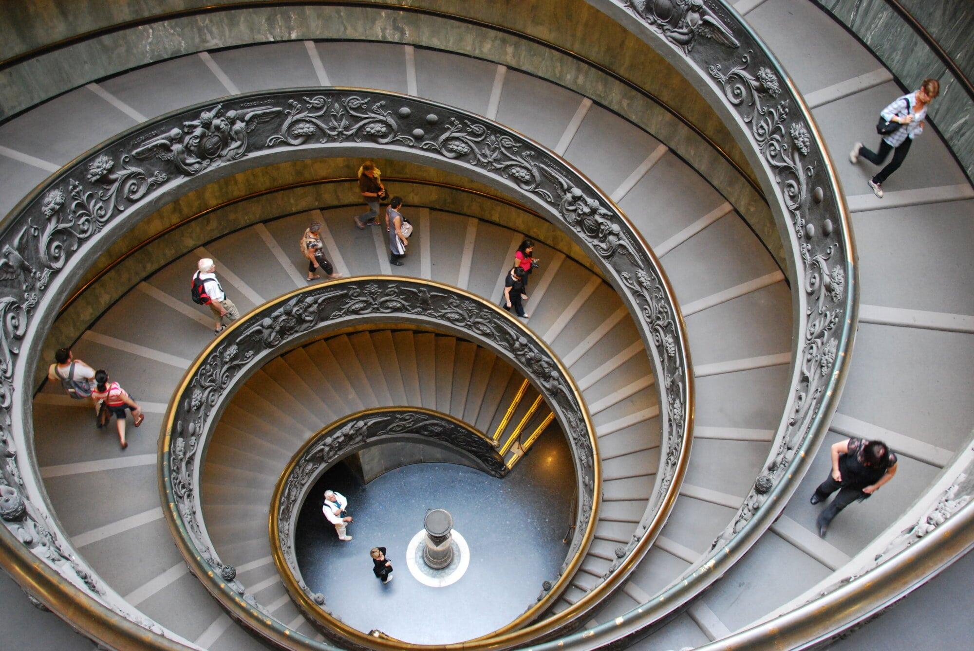 Escalier au musée du Vatican