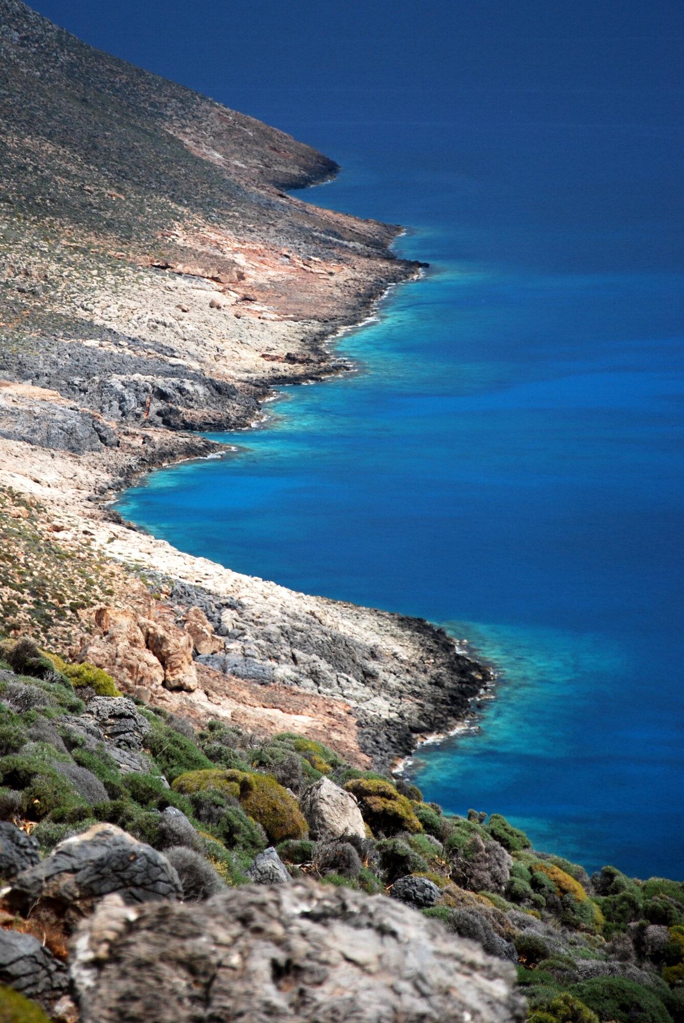 Randonnée le long de la côte crétoise