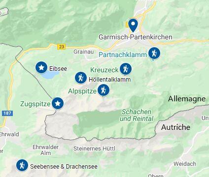 Randonnées à Garmisch-Partenkirchen