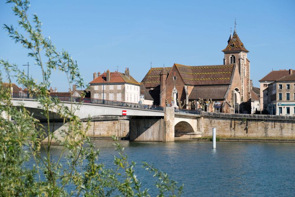 La Saône à Saint-Jean-de-Losne