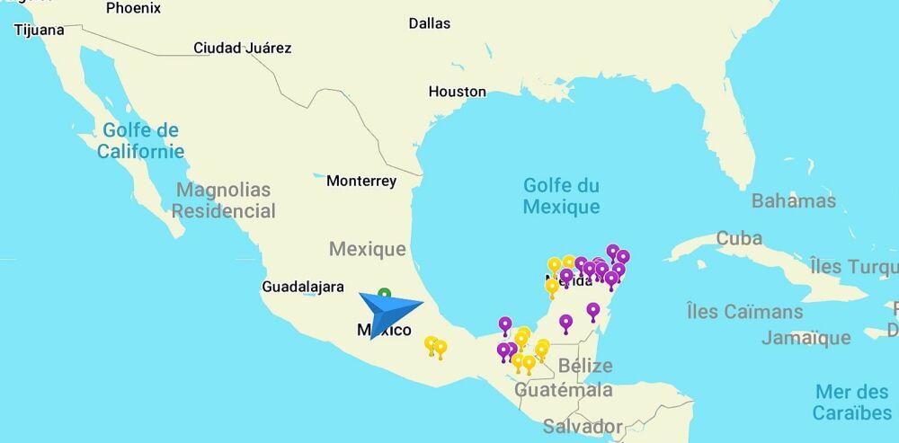Itinéraire Mexique