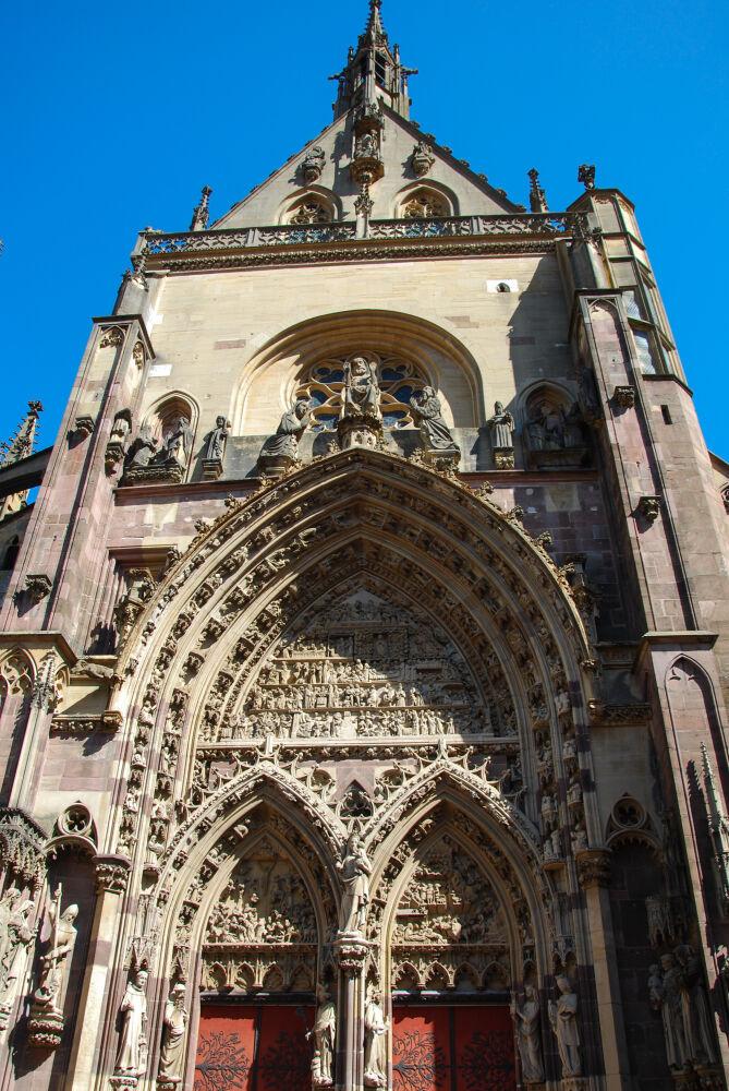 Thann - Le portail de la Collégiale St -Thiébaut