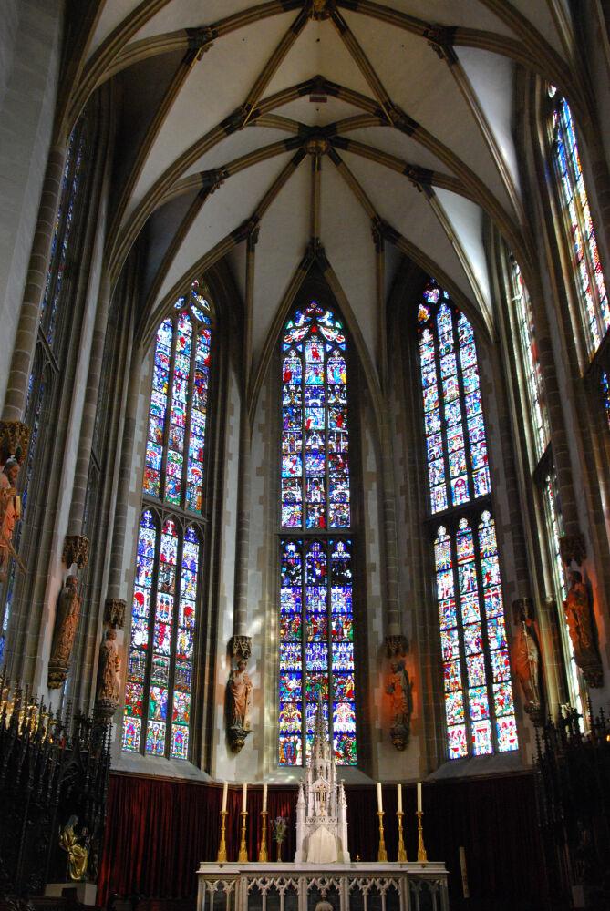 Thann - Les vitraux de la Collégiale St -Thiébaut