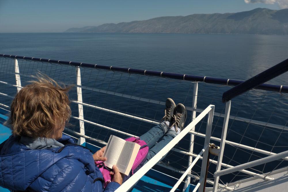 Face à la côte albanaise - Sur le bateau de la compagnie Minoan Lines