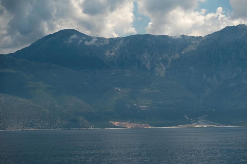 Vue sur le col de Llogara (Albanie)