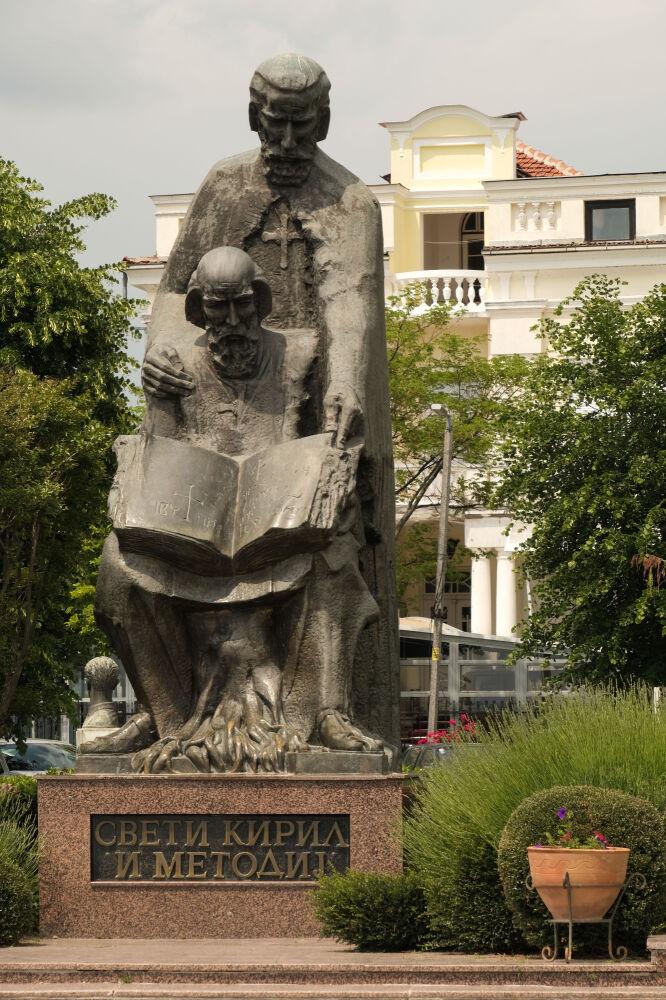 Ohrid - Statue de St Cyril et Methodius