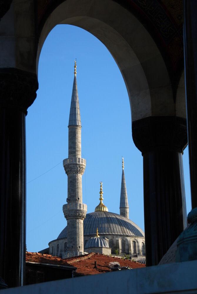 Istanbul - La Mosquée Bleue vue depuis le Pavillon Çinili