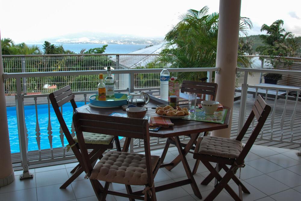 L'Anse à l'Âne - Sur la terrasse de notre gîte