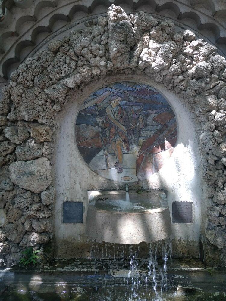La fontaine Stevenson a St Jean du Gard