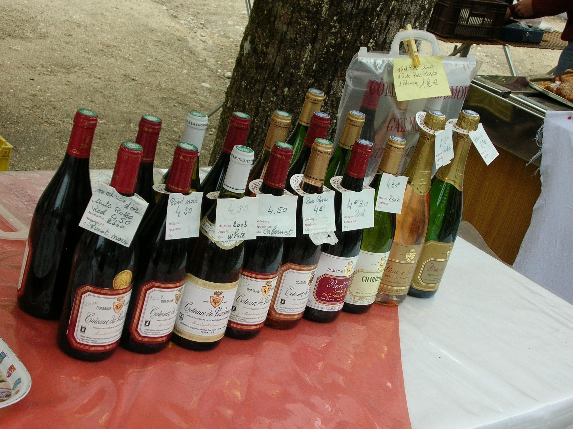 des vins du val de Loire